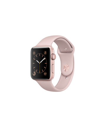 Apple Watch Series 2 42mm Rose Gold Aluminium Case With Pink Sand Sport Band MQ142