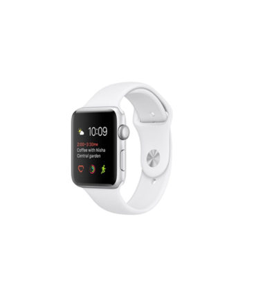 Apple Watch Series 2 42mm Silver Aluminium Case with White Sport Band MNPJ2