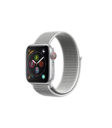 Apple Watch Series 4 44mm Silver Alumnium Case with Seashell Sport Loop (MTVT2, GPS+Cellular)