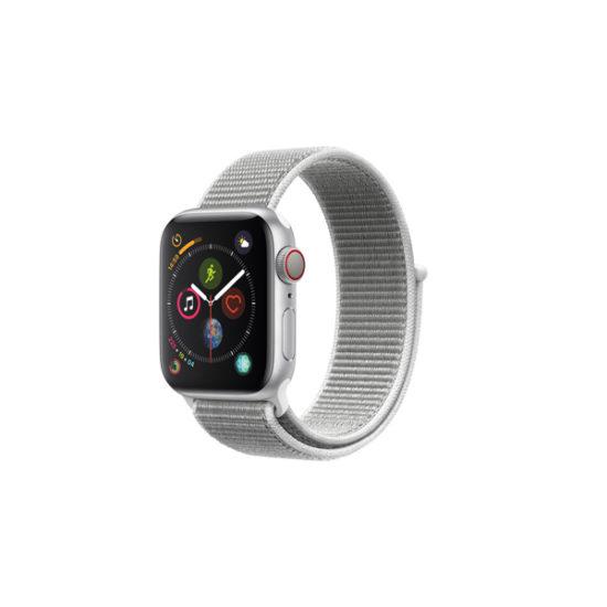 Apple Watch Series 4 44mm Silver Alumnium Case with Seashell Sport Loop (MTVT2, GPS+Cellular)