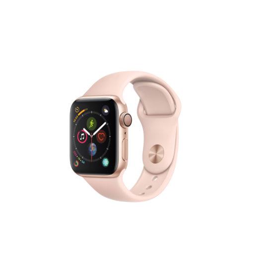 Apple Watch Series 4 (GPS Only, 40mm, Gold Aluminum, Pink Sand Sport Band, MU682)