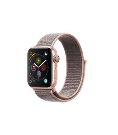 Apple Watch Series 4 (GPS Only, 40mm, Gold Aluminum, Pink Sand Sport Loop, MU692)