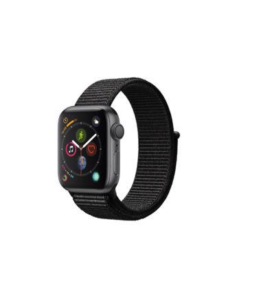 Apple Watch Series 4 (GPS Only, 40mm, Space Gray Aluminum, Black Sport Loop, MU672)
