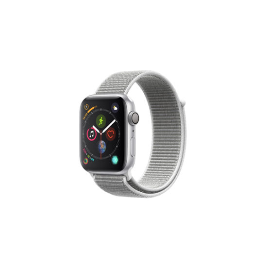 Apple Watch Series 4 (GPS Only, 44mm, Silver Aluminum Case, Seashell Sport Loop) (MU6C2)