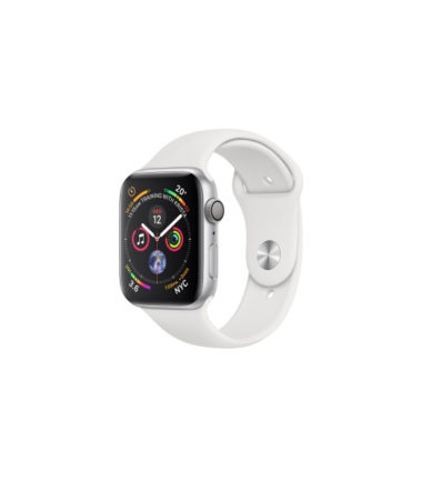 Apple Watch Series 4 White Sport Band 44mm Silver Aluminium (MU6A2)