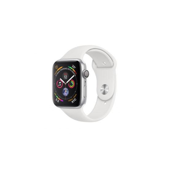Apple Watch Series 4 White Sport Band 44mm Silver Aluminium (MU6A2)