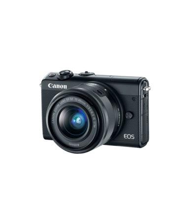 Canon EOS M100 Twin Kit (EF-M 15-45mm STM, EF-M 22mm f2 STM) Black