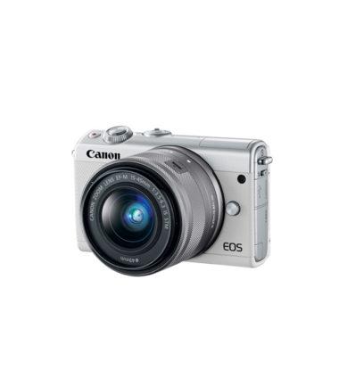 Canon EOS M100 Twin Kit (EF-M 15-45mm STM, EF-M 22mm f2 STM) White