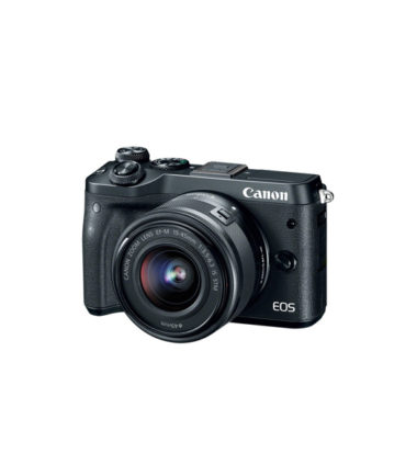 Canon EOS M6 Kit with 15-45mm Lens (Black)