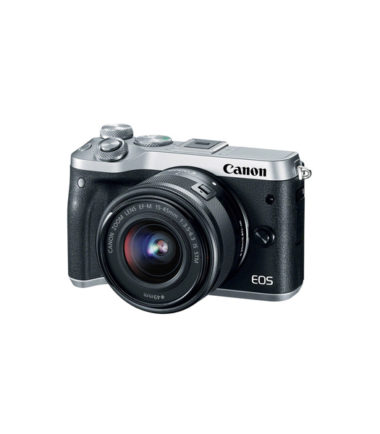 Canon EOS M6 Kit with 15-45mm Lens (Silver)