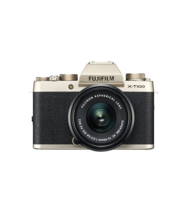 Fujifilm X-T100 Kit with 15-45mm Champagne Gold