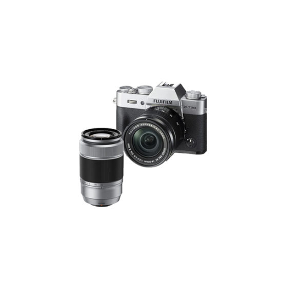 Fujifilm X-T20 Kit with 16-50mm + 50-230mm Silver