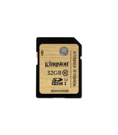 Kingston SDHC Class 10 (Read90mbs, Write45mbs, 32GB)