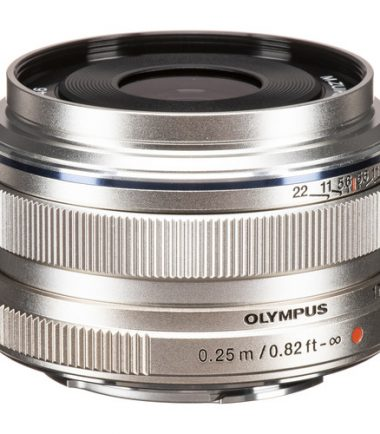 A flexible lens for general shooting, the silver M.Zuiko Digital 17mm f/1.8 from Olympus is a 34mm equivalent wide-angle prime for Micro Four Thirds mirrorless cameras. The wide field of view pairs with the bright f/1.8 maximum aperture to benefit working in difficult lighting conditions, and it also offers increased control over depth of field for working with selective focusing techniques. The optical design makes use of aspherical and high refractive index glass elements to control spherical aberrations and distortion throughout the aperture range for increased sharpness and clarity. Additionally, a Movie & Still Compatible (MSC) autofocus system is employed to deliver quick and quiet focusing performance and a manual focus clutch can be used for more intuitive adjustment and control over focus.