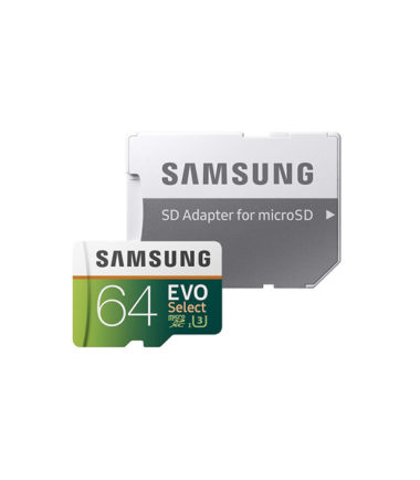 Samsung Micro SDXC UHS-I Card with SD adapter (64GB, 100MBs, With Packing)