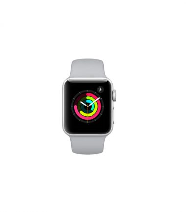 Apple Watch Series 3 White Sport Band 38mm Silver Aluminium Case MTEY2