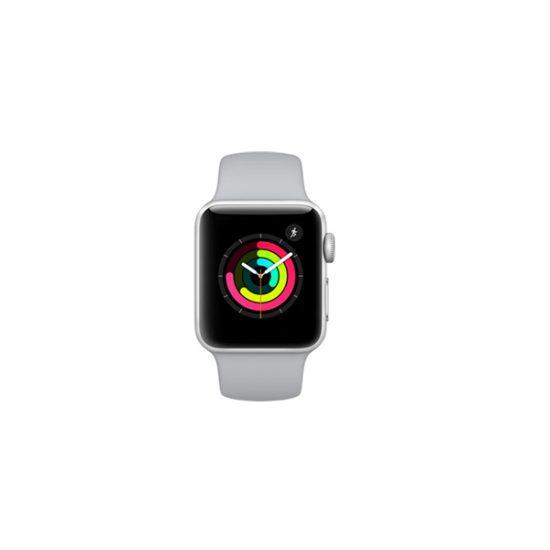 Apple Watch Series 3 White Sport Band 38mm Silver Aluminium Case MTEY2