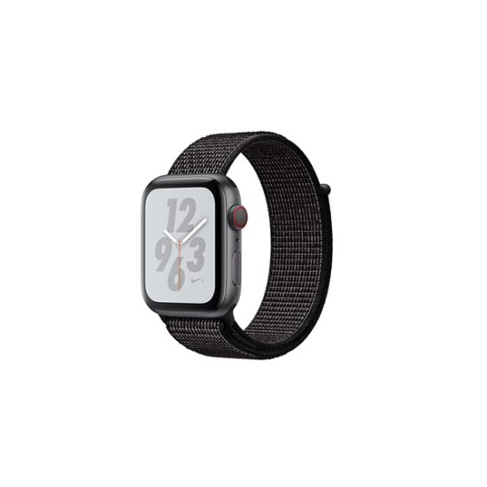Apple Watch Series 4 44mm Space Gray Aluminum Case with Black Nike Sport Loop (MTXL2, GPS+Cellular)