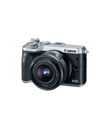 Canon EOS M6 Kit with 15-45mm & 55-200mm Lens (Silver)