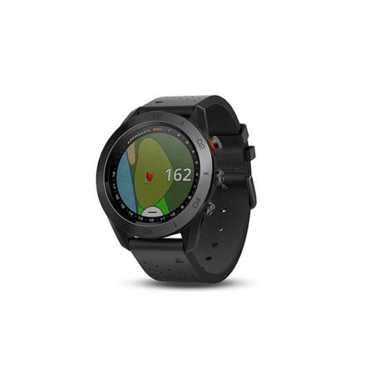 Garmin Approach S60 GPS Golf Watch Black with Black Band (010-01702-20)