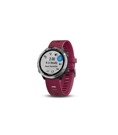 Garmin Forerunner 645 GPS Watch (Cerise, Music Version, 010-01863-F1)