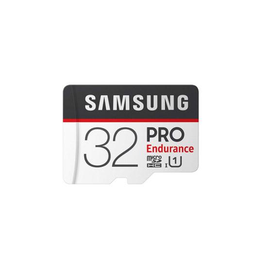 Samsung Micro SDXC Pro Endurance UHS-I Class 10 (32GB, Read 100mbs, Write 30mbs, With Adapter) (MB-MJ32GA)