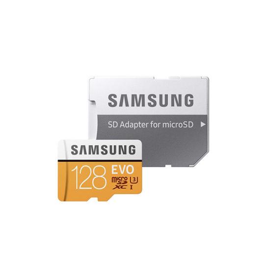Samsung Micro SDXC U3 EVO Class 10 (128GB, Read 100mbs, With Adapter) (MB-MP128GA)