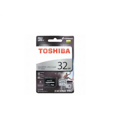 TOSHIBA 32GB EXCERIA PRO microSDXC UHS-1U3 WITH ADAPTER