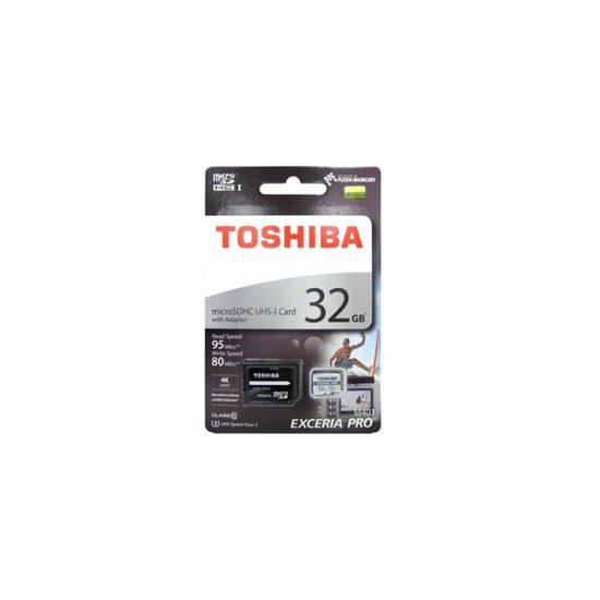 TOSHIBA 32GB EXCERIA PRO microSDXC UHS-1U3 WITH ADAPTER