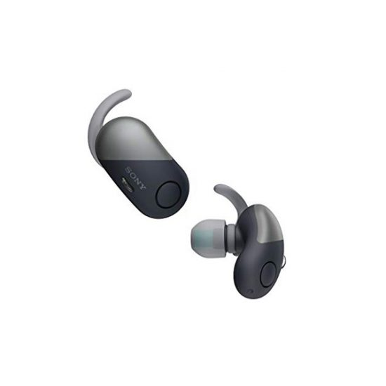 Sony WF-SP700N Truly Wireless Sports Headphones with Noise Cancelling and IPX4 Splash Proof White